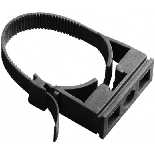 Abrazadera nylon negra ajustable...