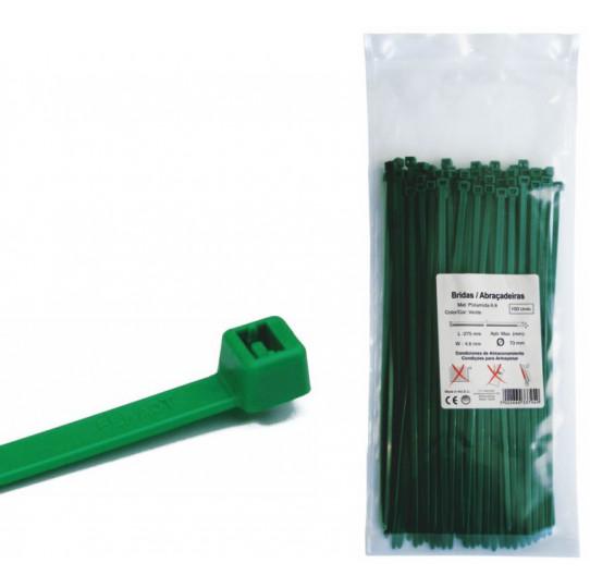 Brida de nylon verde 4,6 x 200 mm 100...