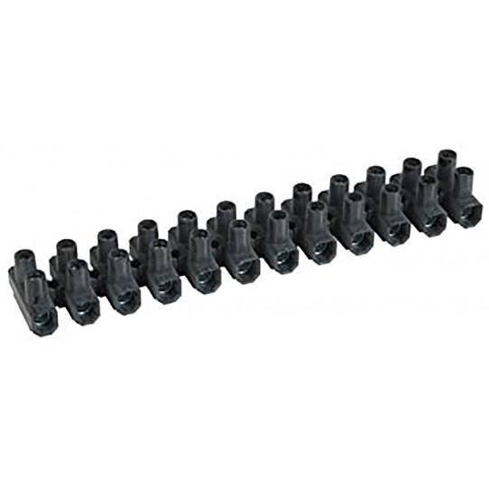 Regleta de conexión negra sección 10 mm