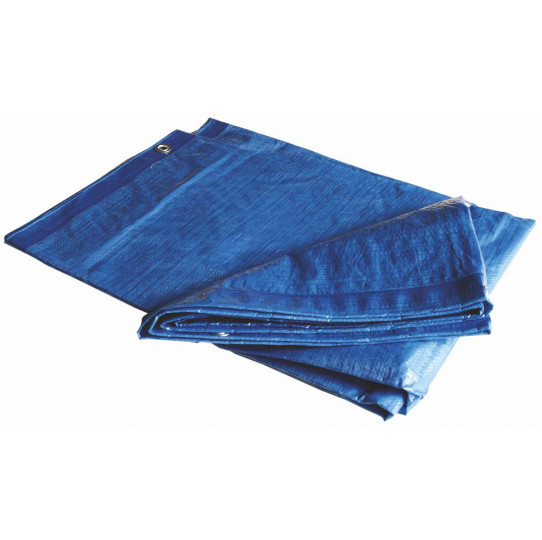 Toldo reforzado azul 4 x 6 m 110g
