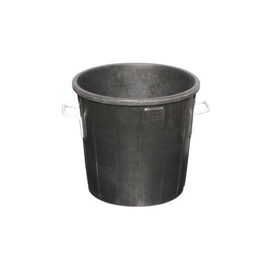 Cubo basura de goma con tapa 105L